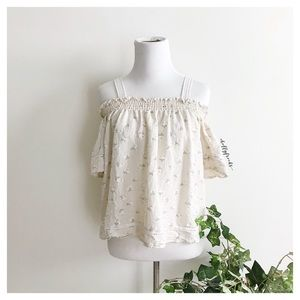Love Notes ∙ Floral Cold Shoulder Ruffle Top